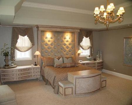 مدل اتاق خواب لوکس با دکوراسیون سلطنتی