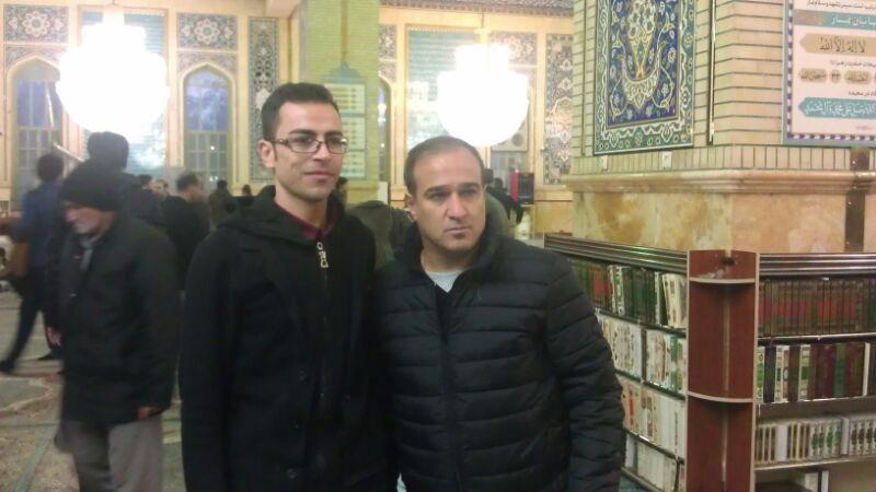 حضور بازیکنان استقلال در مسجد مقدس جمکران