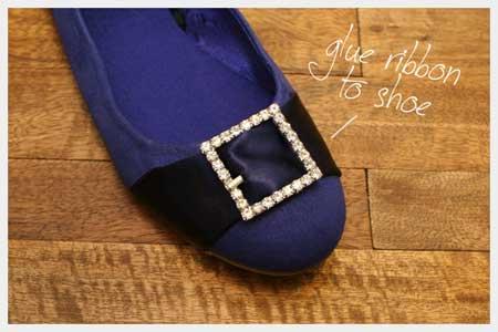 تزیین کفش های عروسکی با روبان