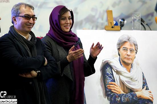 عکس های مهتاب کرامتی در اولین نشست دوره 34 جشنواره فجر