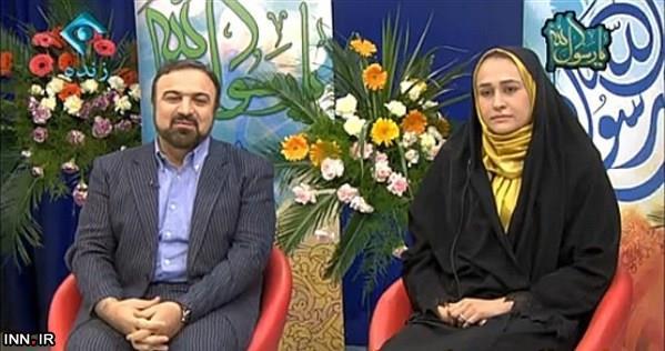 مرتضی حیدری و همسرش زهره کاظمی در برنامه تلویزیونی  تصاویر