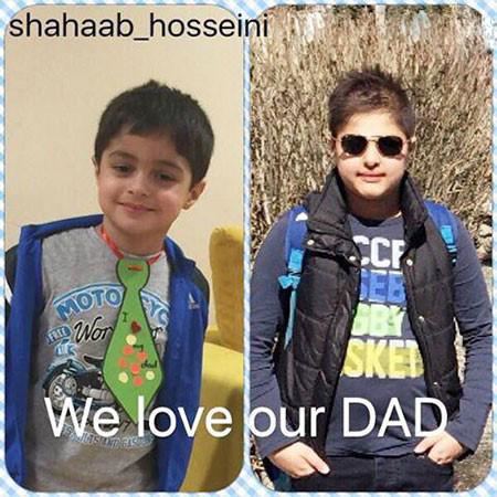 شهاب حسینی و پسرهایش ، امیرعلی ومحمد امین تصاویر
