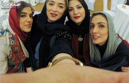سلفی 4 بازیگر زن در حاشیه جشنواره فیلم فجر عکس