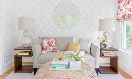 آموزش ست کردن کاغذ دیواری با مبلمان خانه