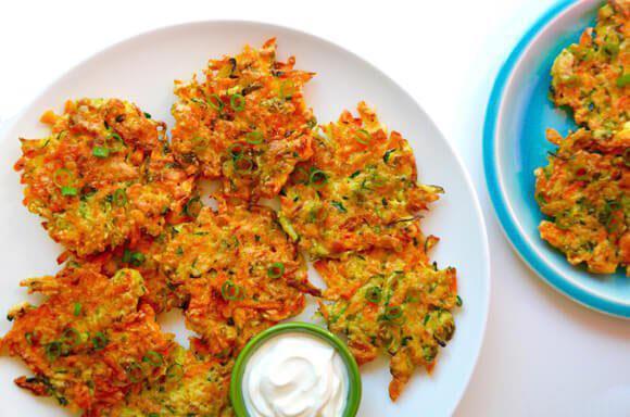 کتلت کدو و هویج، یک غذای فوری