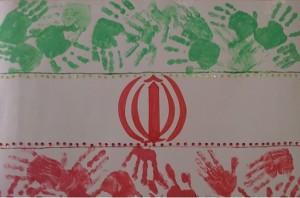 آموزش دو کاردستی خلاقانه برای پرچم و نقشه ایران  تصاویر