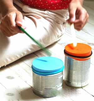 آموش ساخت کاردستی طبل با وسایل بسیار ساده