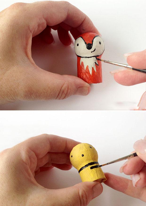 آموزش ساخت عروسک های بسیار زیبا با چوب پنبه و یونولیت