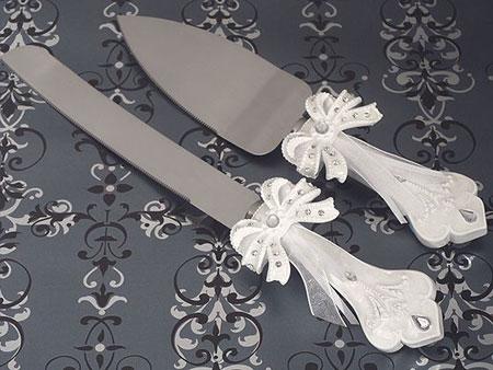 تزیین چاقوی کیک عروسی تصاویر جذاب