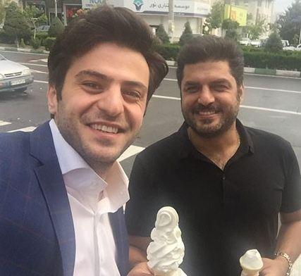 سلفی های علی ضیا با مادرش و بازیگر مرد! تصاویر
