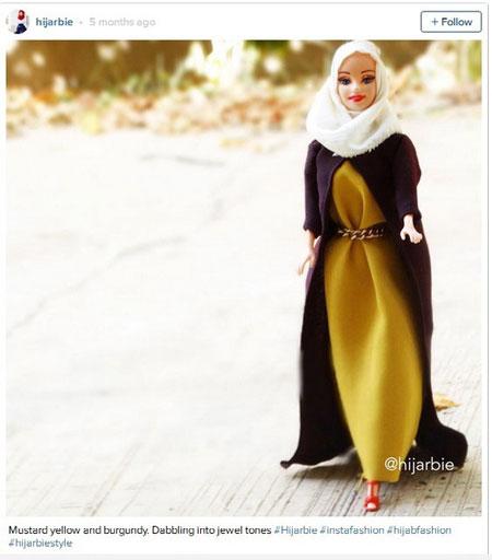 باربی با حجاب ستاره این روزهای اینستاگرام! تصاویر
