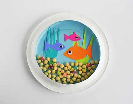 کاردستی آکواریوم ماهی  تصاویر
