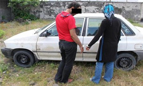 زن و شوهر جوانی که شبانه به سرقت می رفتند