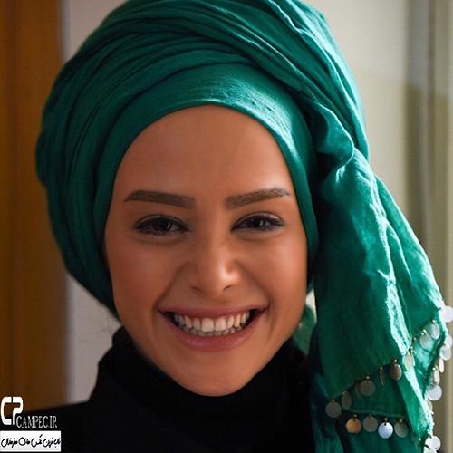 الناز حبیبی سر صحنه سریال سر به راه