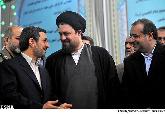 تصویری: خوش و بش های احمدینژاد و سیدحسن خمینی