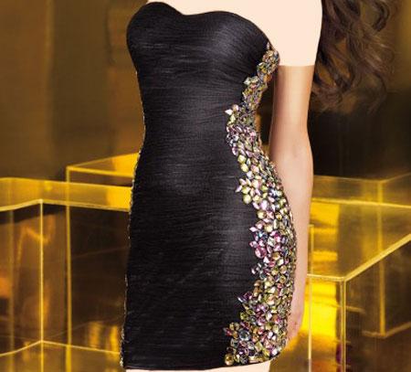 مدل لباس شب مشکی  تصاویر