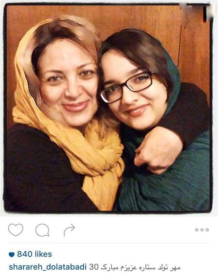 لاله صبوری و شراره دولت آبادی و دخترانشان تصاویر