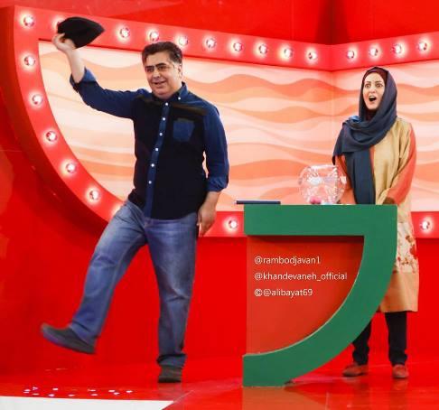 سورپرایز جالب شقایق دهقان در خندوانه و شوخی با دکتر ظریف! تصاویر