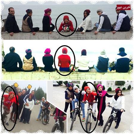 دوچرخه سواری بازیگر زن در شمال با تیپ خاص!