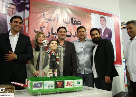 نیوشا ضیغمی و همسرش در جشن تولد احمد رضا عابدزاده