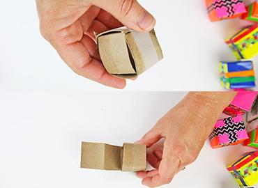 آموزش کاردستی مکعب های رنگی با وسایل دور ریختنی