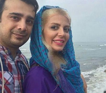 جدیدترین عکس سپند امیرسلیمانی و همسرش لب دریا عکس
