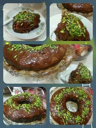 کیک خرمای متفاوت و لذیذ با سس کاراملی