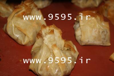 بقچه گوشت و نخود با خمیر یوفکا, مقوی و لذیذ