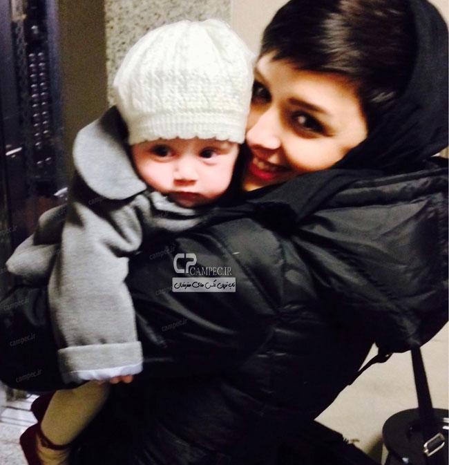 عکس جدید ترانه علیدوستی و دخترش حنا