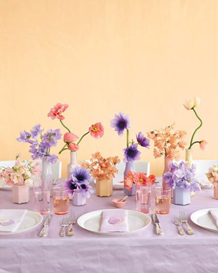 تزیینات ساده برای میز شام و ناهار
