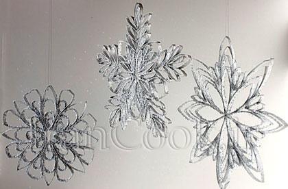 ساخت کاردستی گل های برفی با مقوا  تصاویر