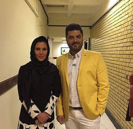 سام درخشانی و همسرش عسل در برنامه تحویل سال شبکه یک! تصاویر