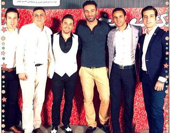 بازیکنان استقلال در کنسرت بابک جهانبخش عکس