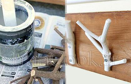 ساخت کاردستی چوب لباسی با شاخه خشکیده  تصاویر