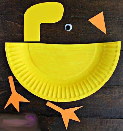 آموزش ساخت مرغابی بسیار ساده با بشقاب یکبارمصرف تصاویر