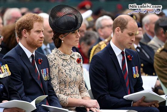 تیپ زیبای کیت میدلتون با پیراهن گیپور در یک مراسم نظامی