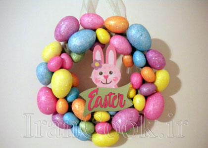 ساخت کاردستی حلقه تخم مرغ رنگی  تصاویر