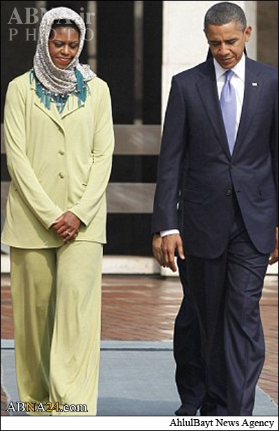 روسری سر نکردن همسر اوباما جنجا به پا کرد!  تصاویر