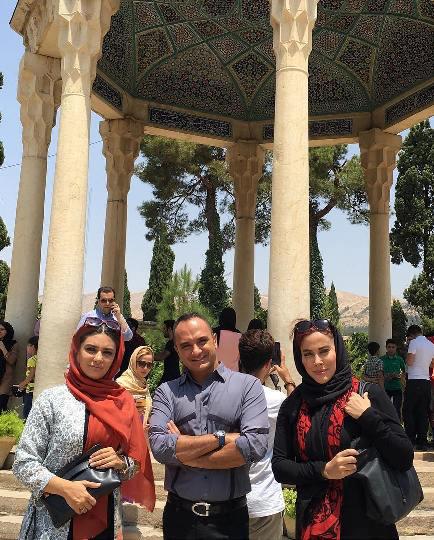 عکس های جدید و زیبای لیندا کیانی در حافظیه شیراز