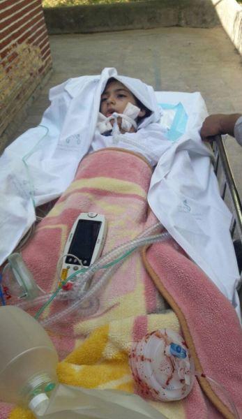 تصاویری دردناک ازدختربچه بی گناه که قربانی سهل انگاری پزشکان شد