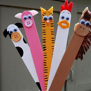 با چوب بستنی حیوانات مزرعه را برای کودکان خلاق خود بسازید تصاویر