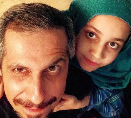 تصویری جالب از سید جواد رضویان و دخترش