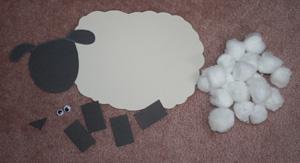 آموزش ساخت کاردستی گوسفند با وسایل بسیار ساده تصاویر