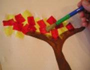 ساخت کاردستی درخت پاییزی  تصاویر