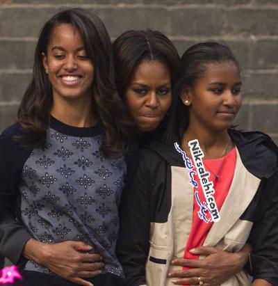 سوژه شدن چهره دختر کوچک اوباما