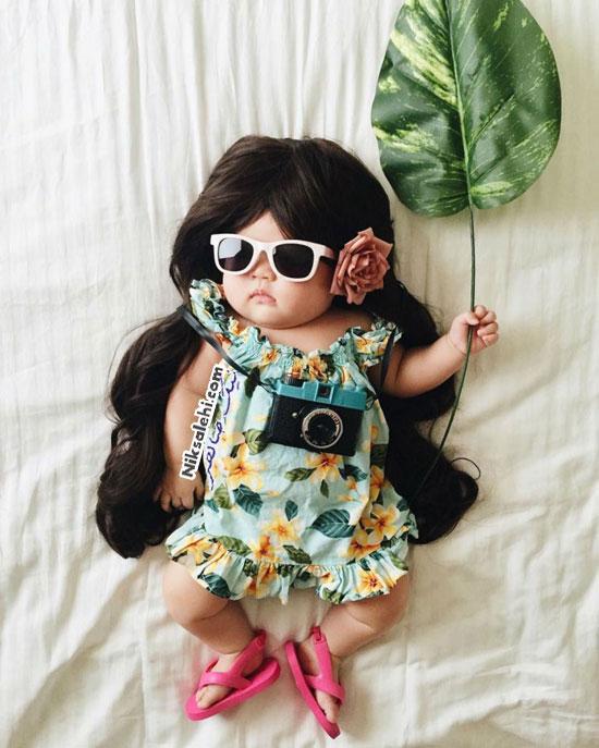عکس های خلاقانه مادری از دختر کوچولوی بانمکش
