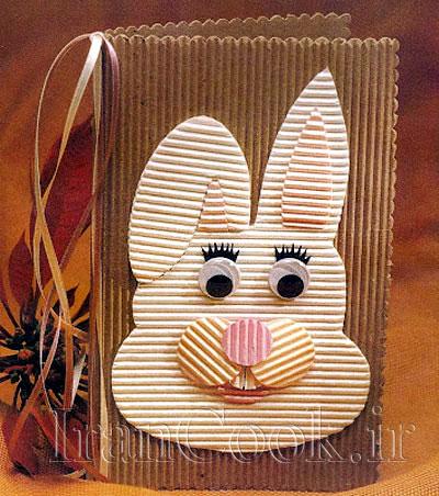 آموزش ساخت کارت پستال خرگوش  تصاویر