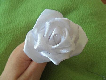 آموزش گل روبانی (گل رز) تصاویر