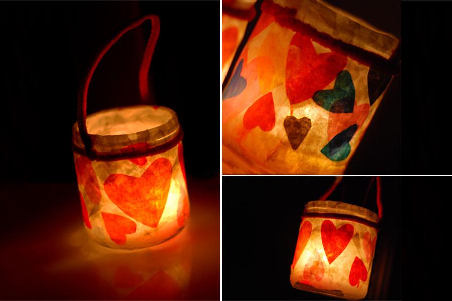 آموزش ساخت فانوس با ظرف شیشه ای و دستمال کاغذی