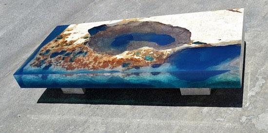 با این میزها اقیانوس را به خانه بیاورید